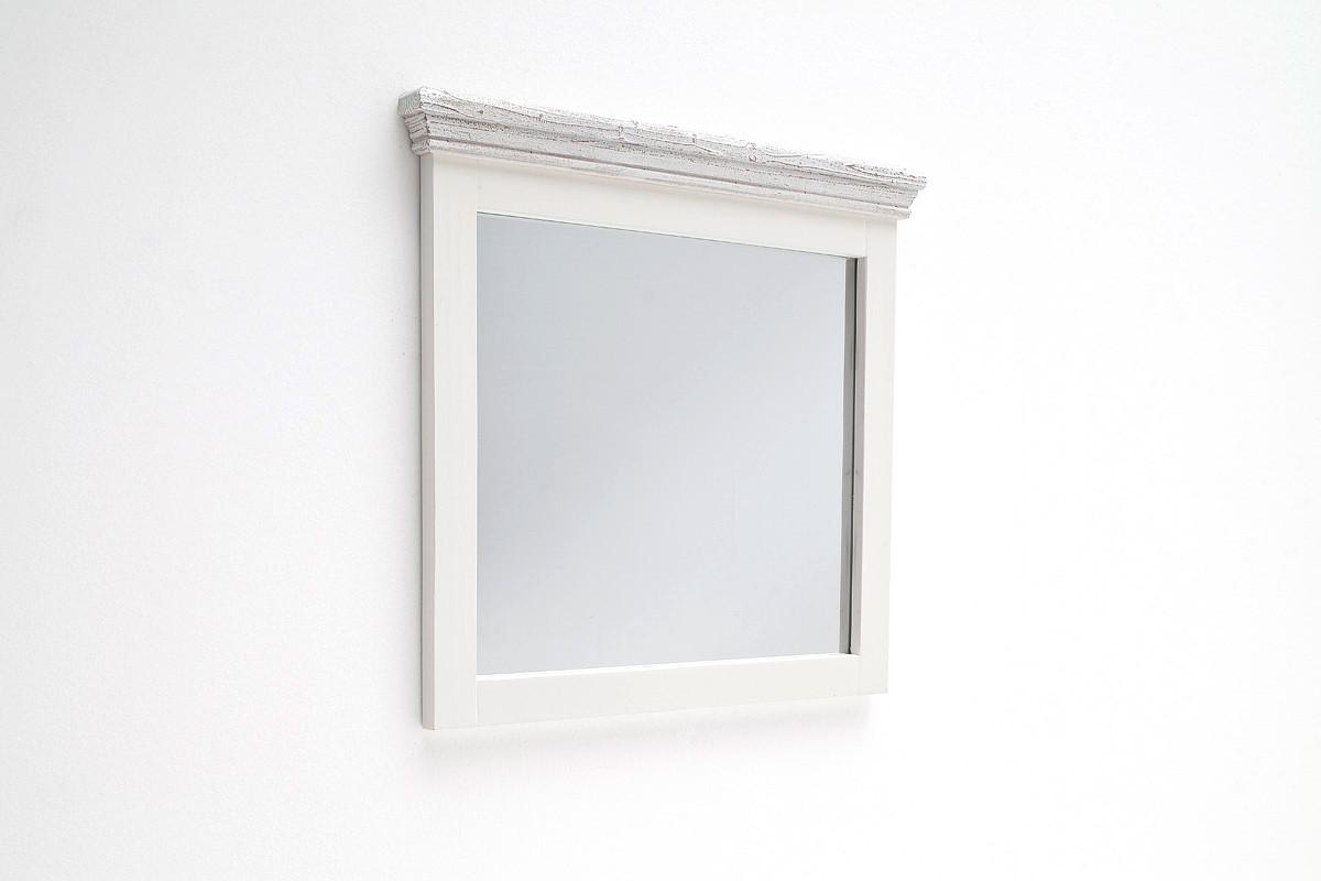Wandspiegel Olio Horizontal in weißem Kieferholz