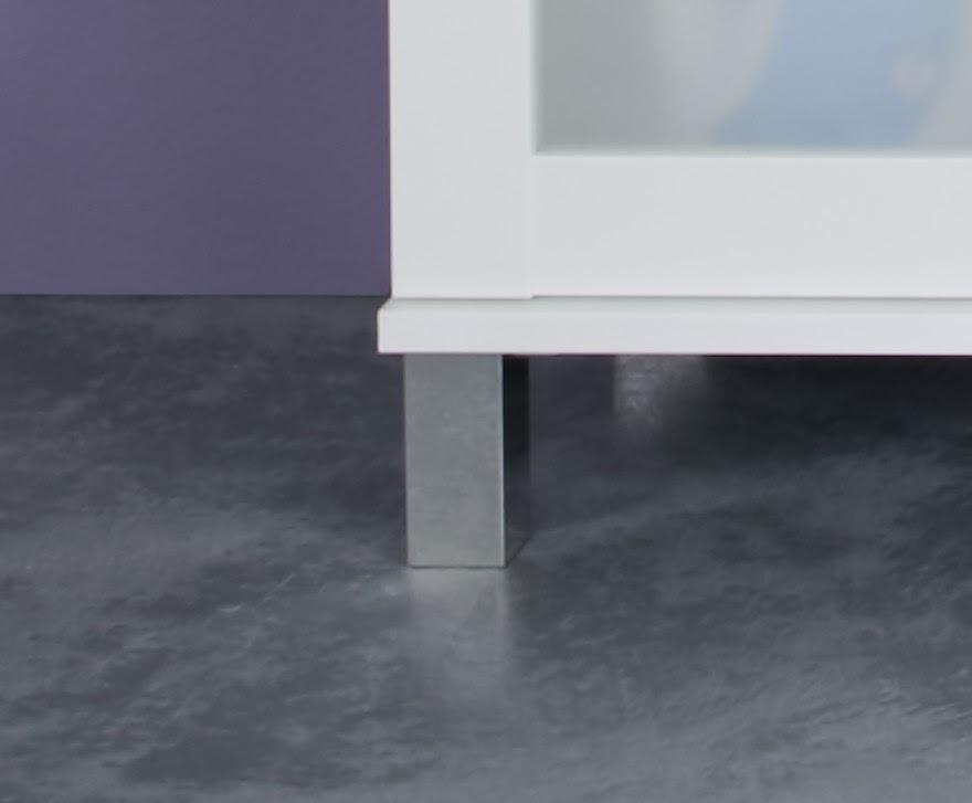 Waschbeckenschrank Lima in Weiß mit Glasfront