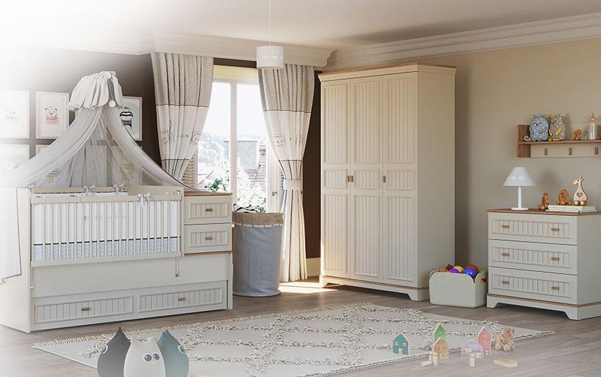 Almila Babyzimmer Set mitwachsend Monte 4-teilig