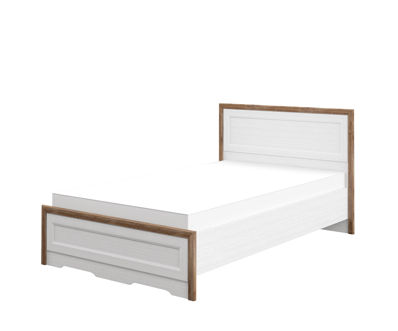 Neman Bett 120x200 mit Lattenrost Tivoli Landhausstil Weiß