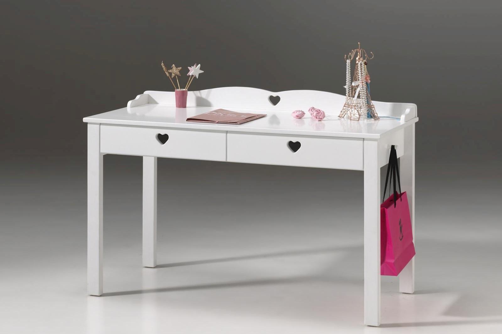 Schreibtisch Albin in Weiß MDF