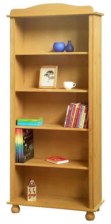 Lydia Bücherregal mit 4 Böden Kiefer Natur