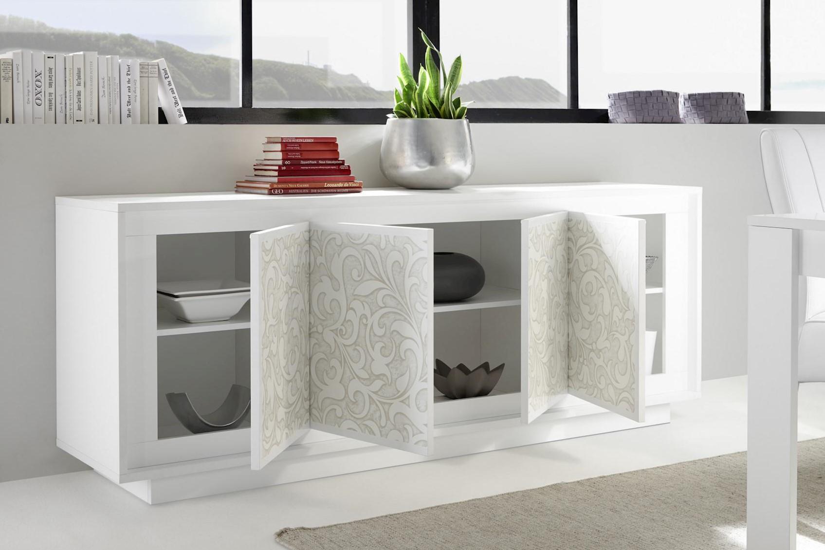Heaven Sideboard Weiß Floraldruck