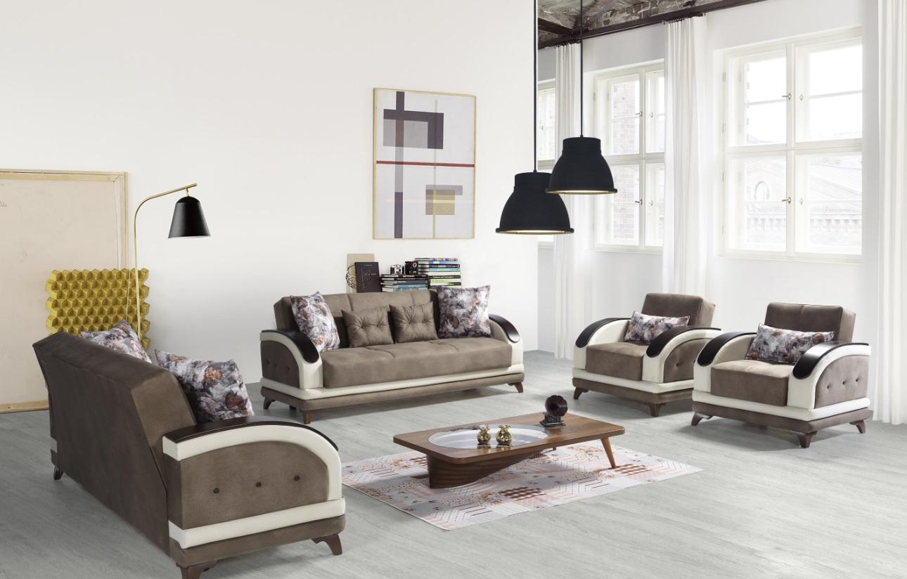Windy Couch Set mit Schlaffunktion Asos Braun Beige