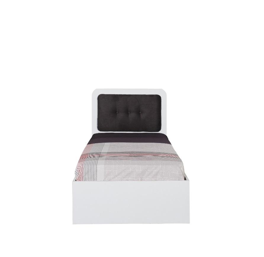 Titi Einzelbett Puzzle mit gepolstertem Kopfteil 90x190