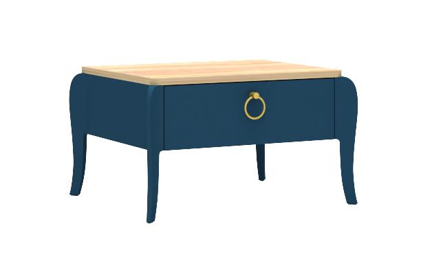 Almila Nachtkommode Elegant Blue mit Schubkasten