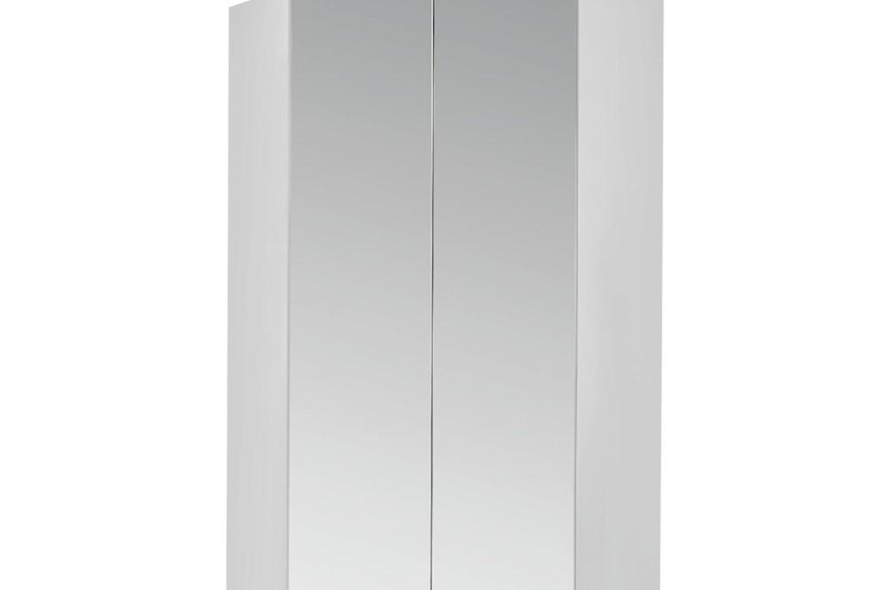 Spiegel-Eckschrank CELLE 117 x 197 x 117 cm verschiedene Farben