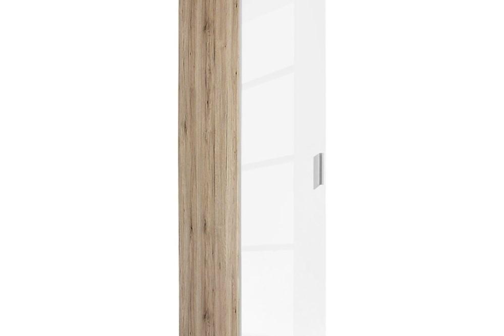 Drehtürenschrank CELLE weiß / Eiche Sonoma 47 x 210 x 54 cm