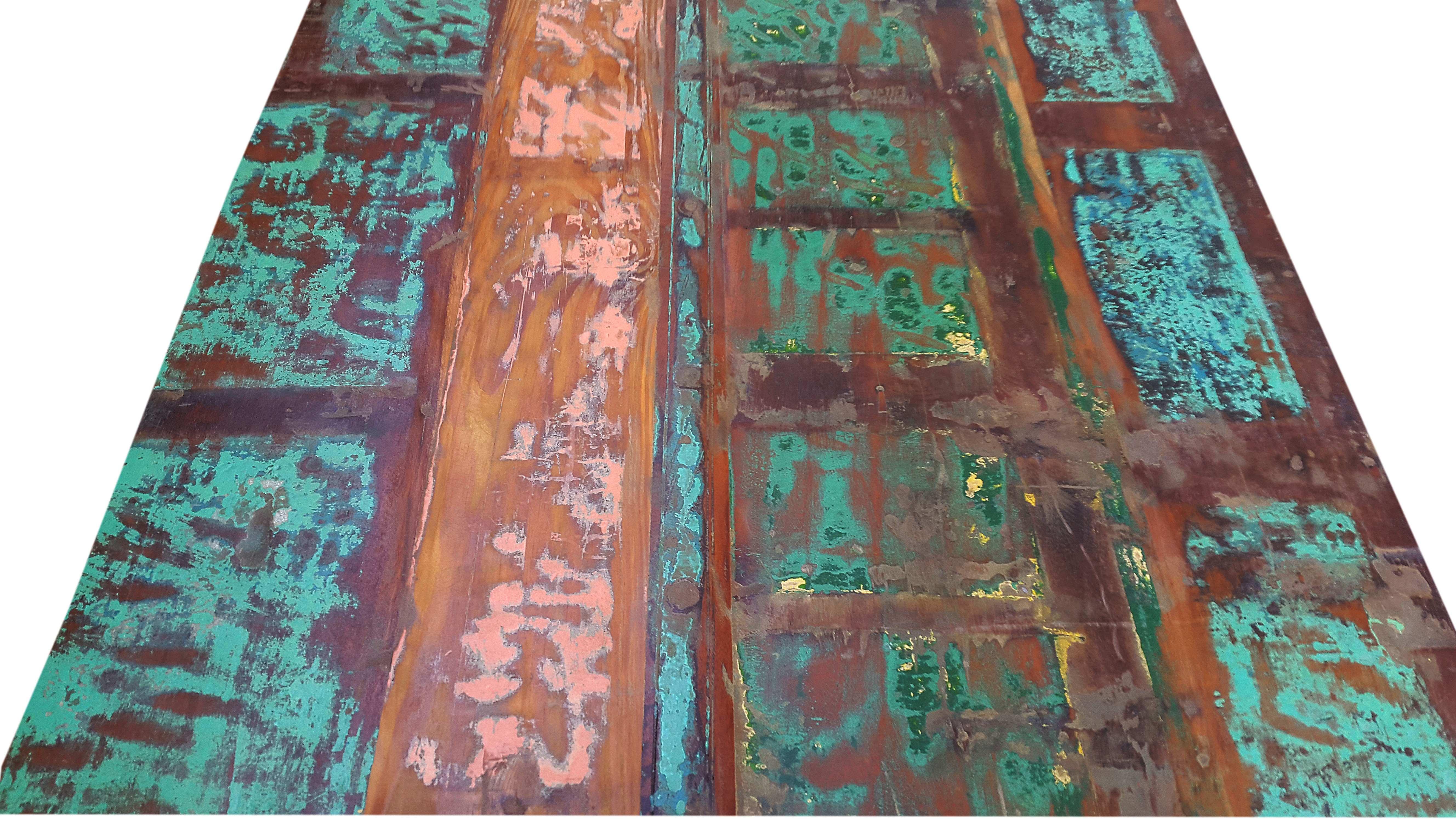 Sit Esstisch Bali aus buntem Altholz 165x80