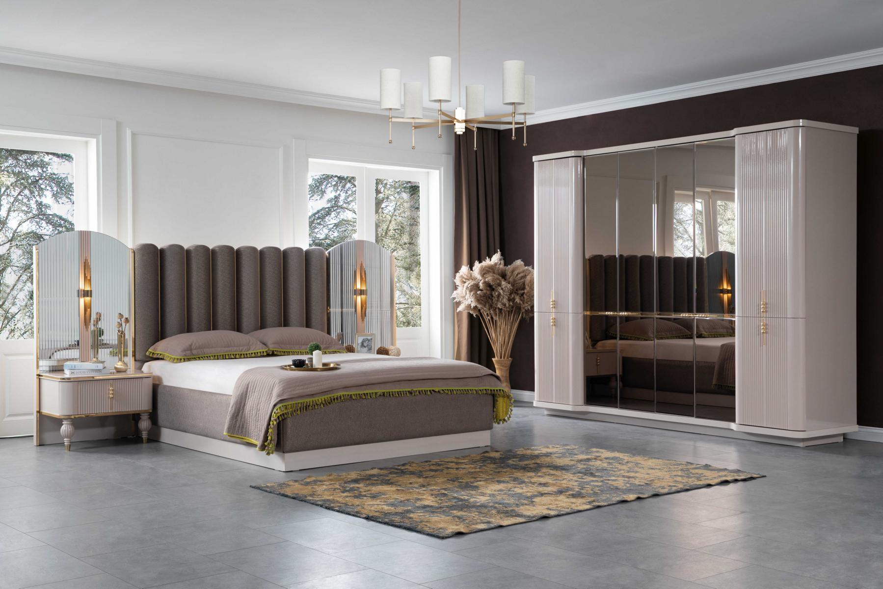 Lidya Schlafzimmer Set Pemi mit Bett in 180x200 cm