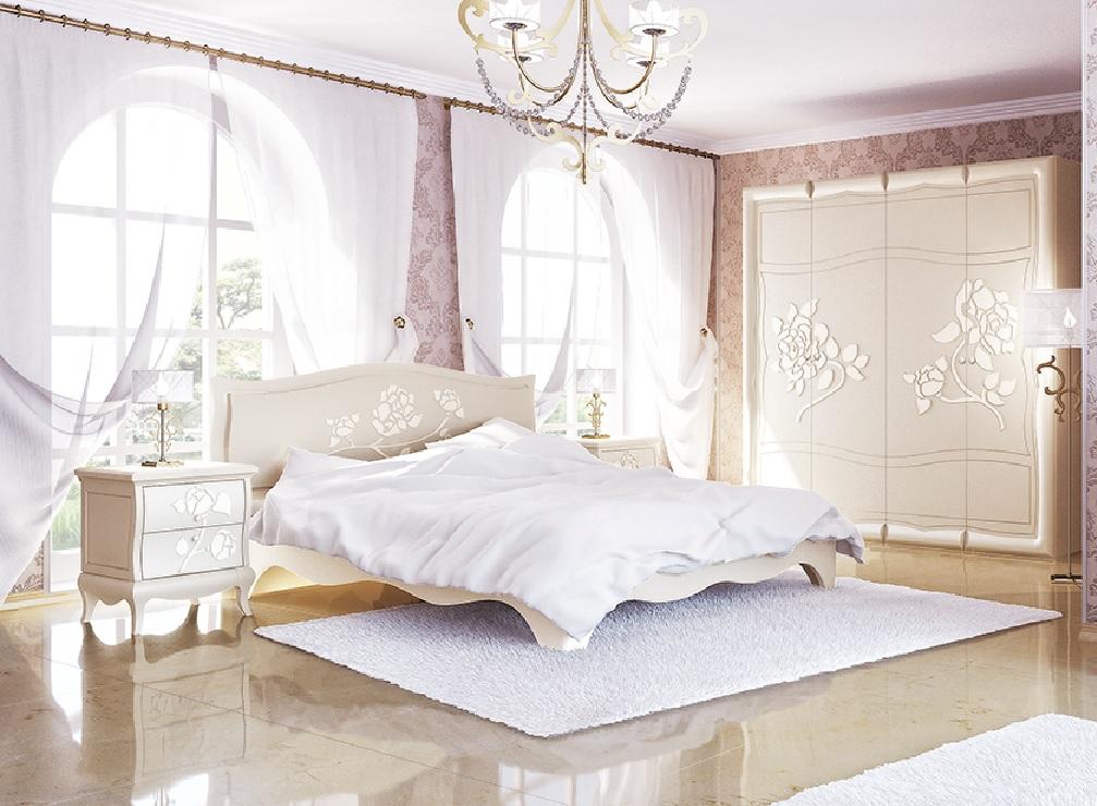 Neman Schlafzimmer-Set 4-teilig Astoria Creme