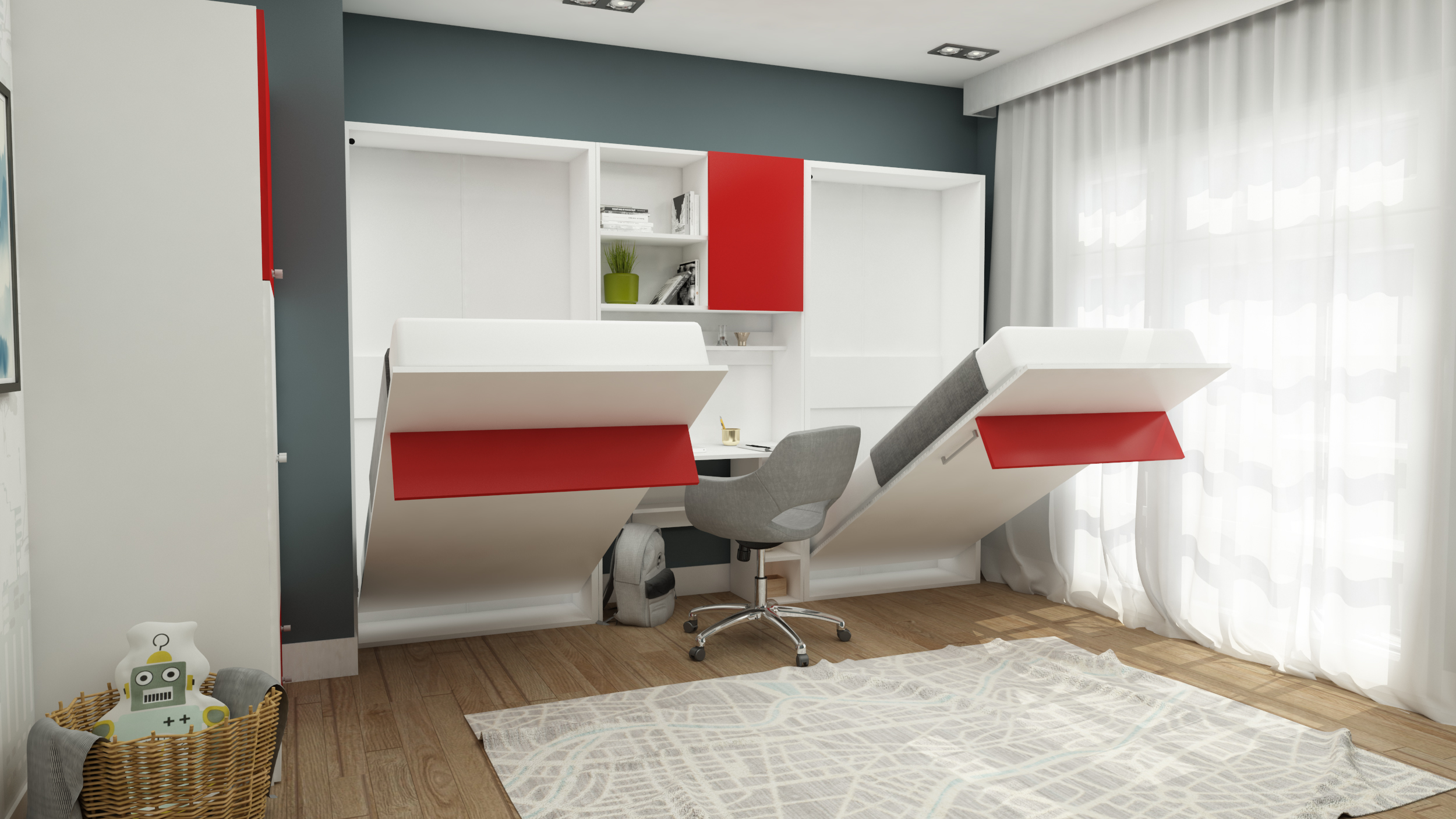 Multimo Jugendzimmer komplett Set Happy Twin