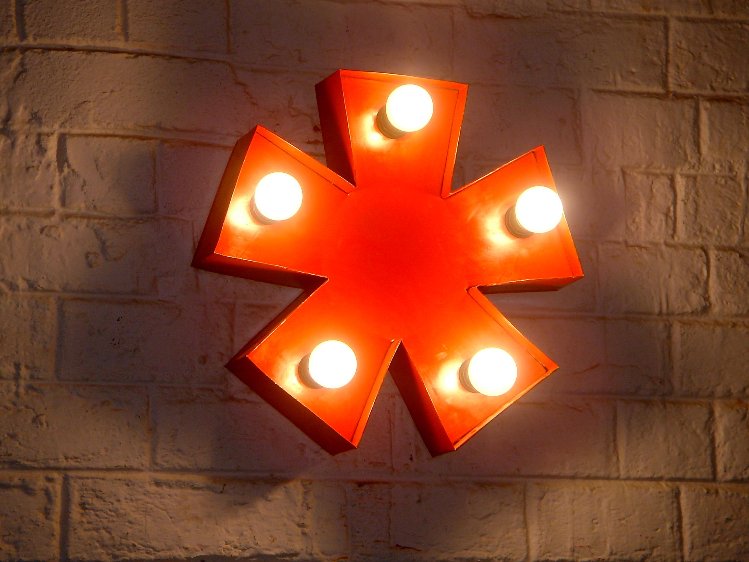 Wandlampe Stern Lumina Rot