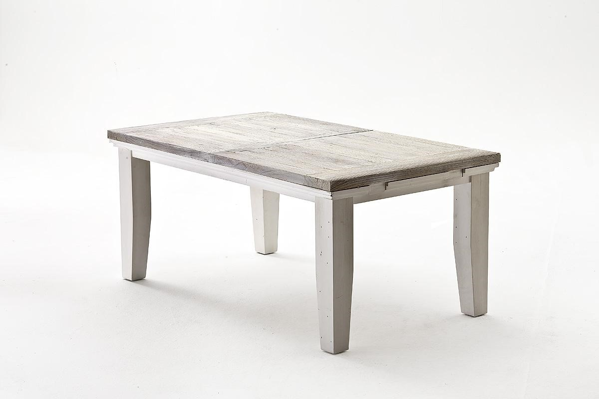 Esstisch Olio ausziehbar 180x105 cm Kiefer Massiv Weiß