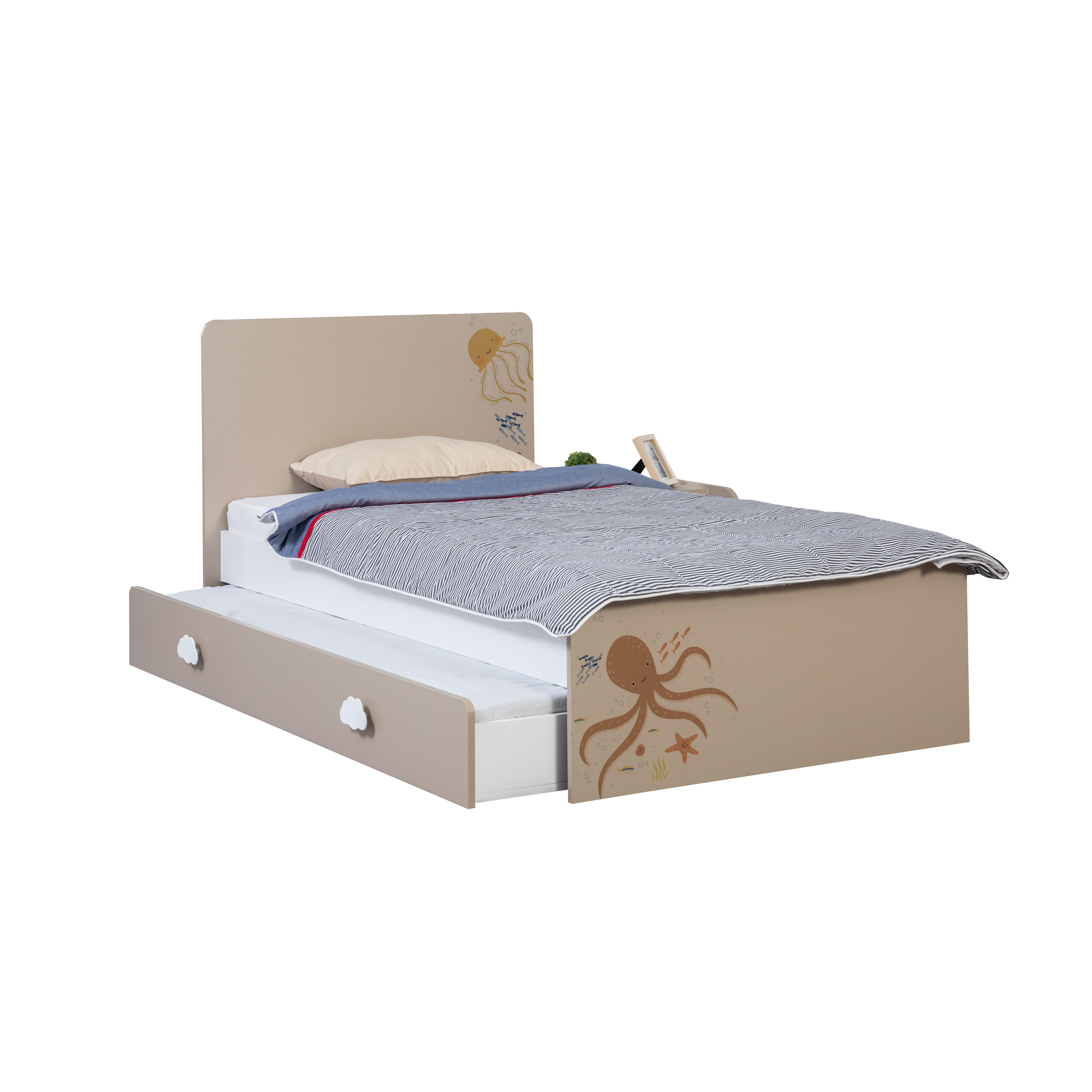 Titi Kinderbett Ocean in 100x200 cm mit Bettkasten