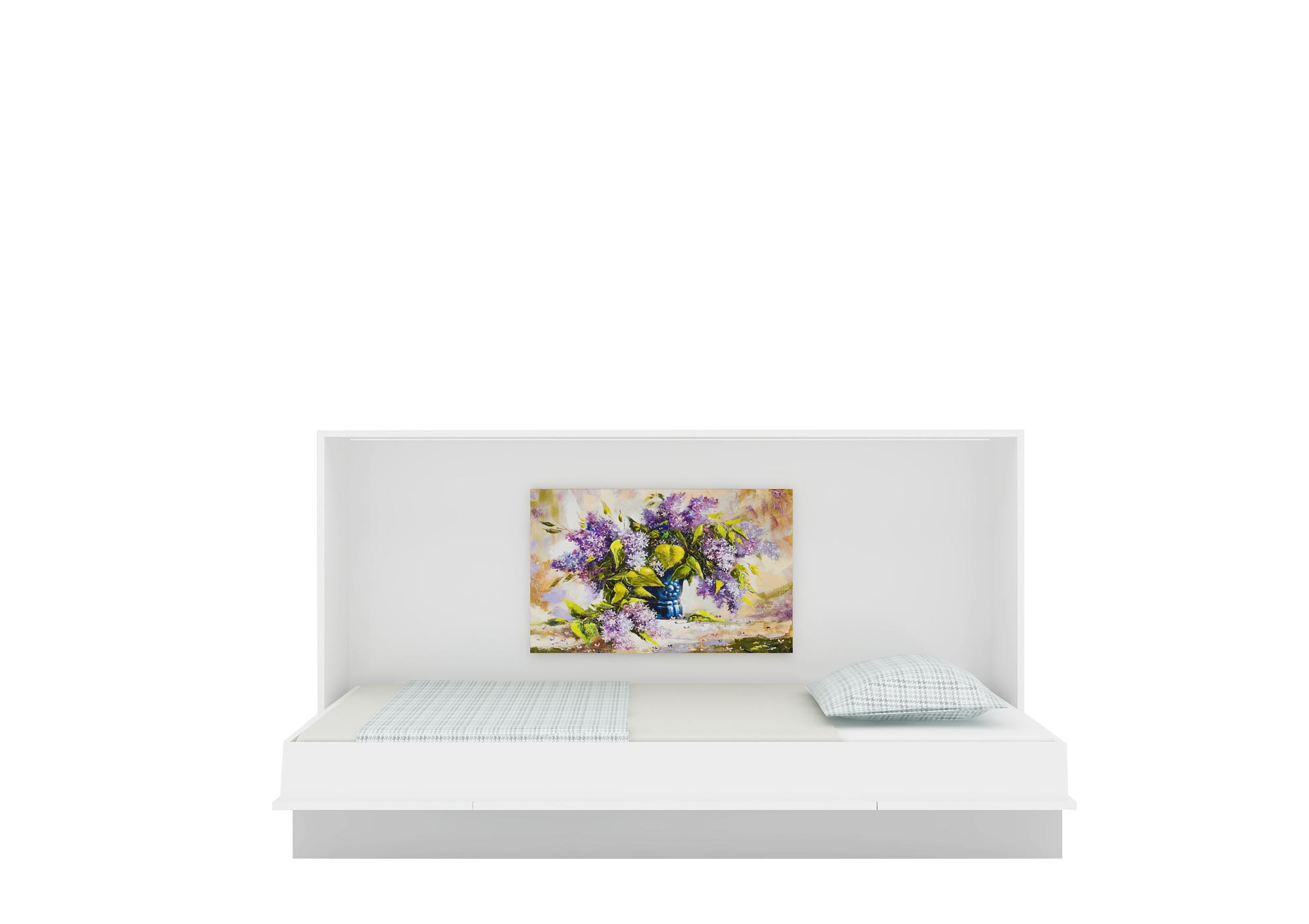 Multimo Wandklappbett Primer Life in 90x200 Weiß