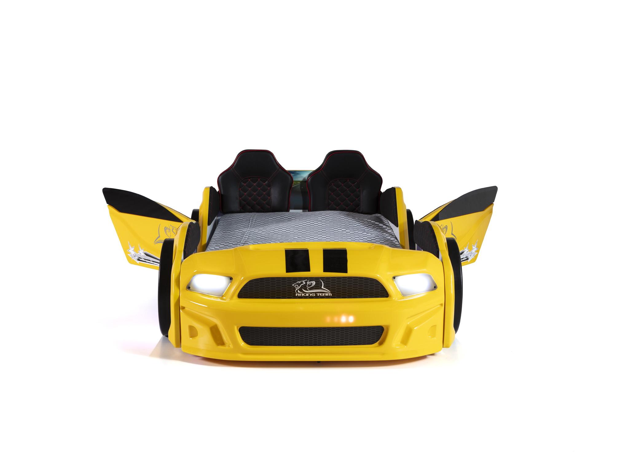 Autobett Must Rider 500 mit Türen in Gelb