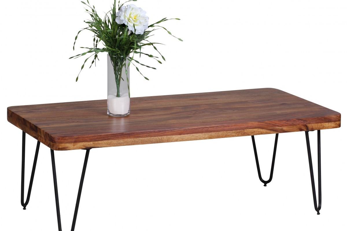 Massivholz Sheesham Couchtisch 115 x 60 x 40 cm