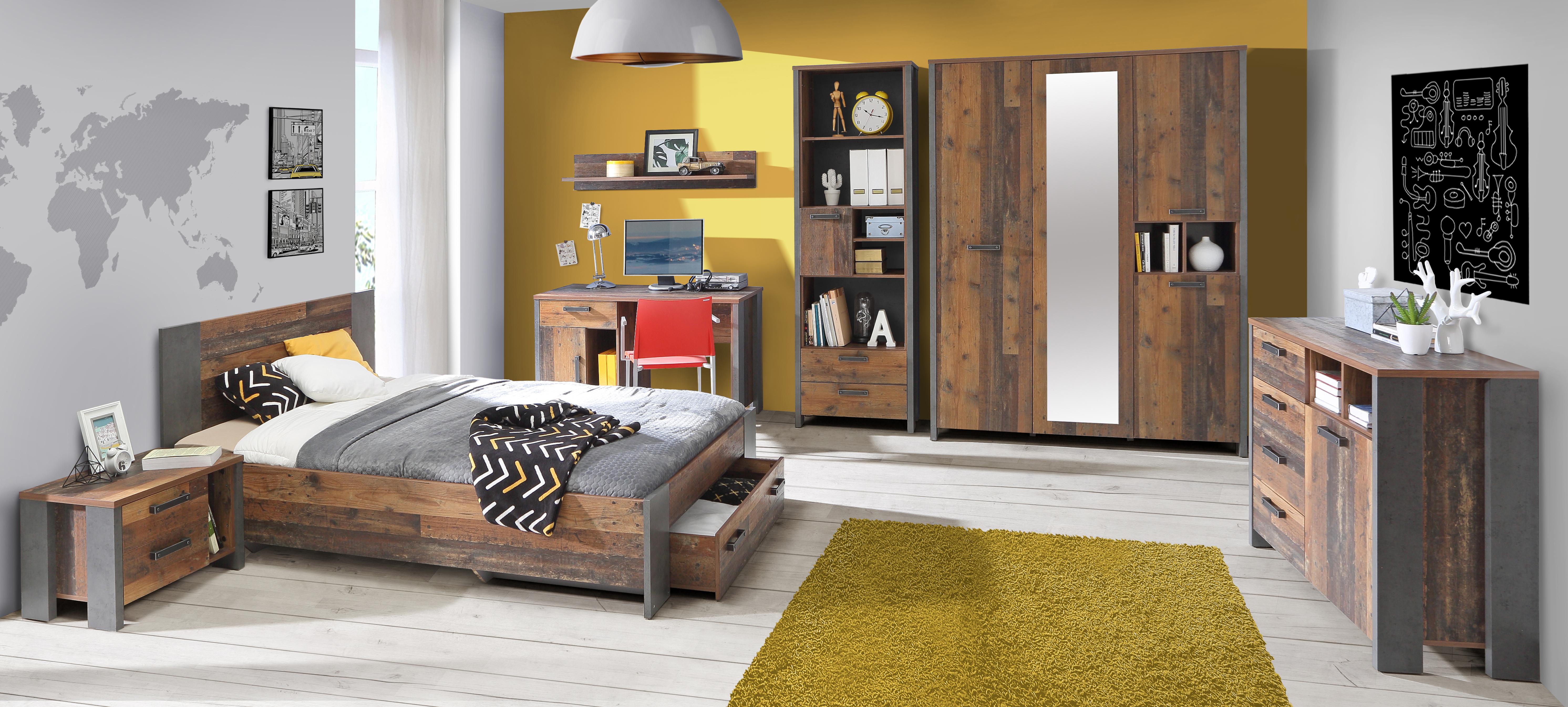 Jugendzimmer komplett Set Cleo 7-teilig 120x200