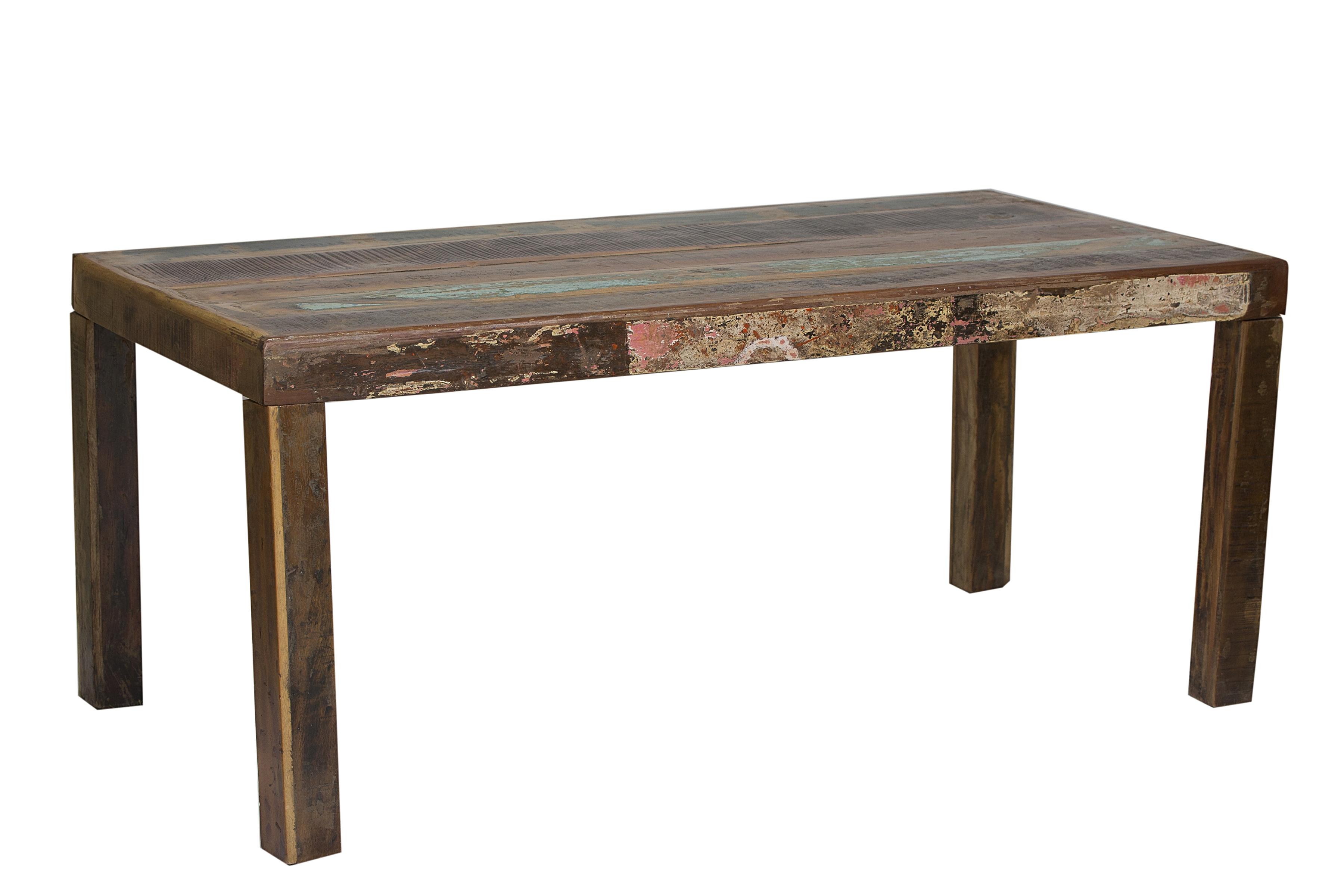Sit Fridge Esstisch aus buntem Altholz 180x90