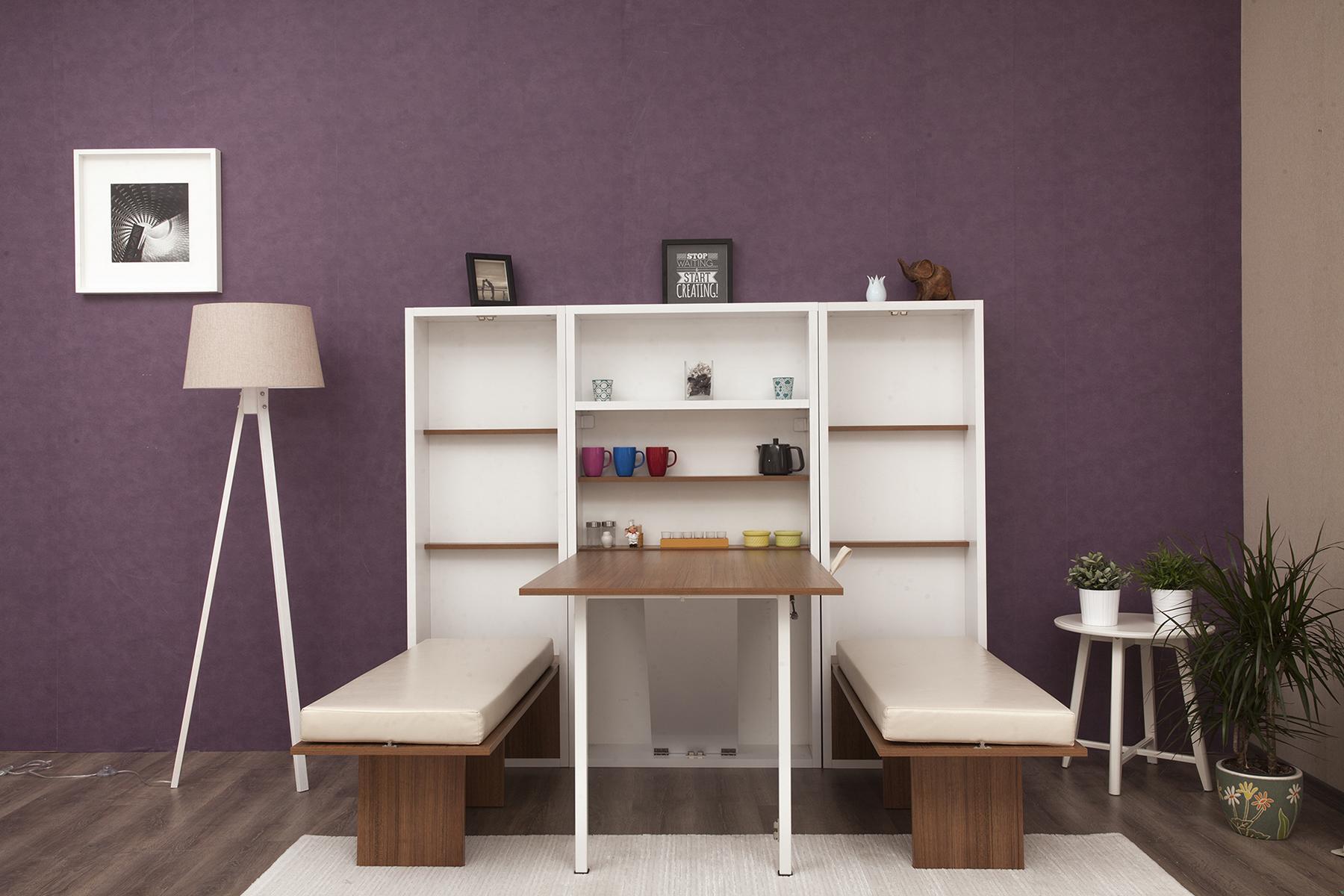 Multimo klappbarer Esstisch Set Secret Table