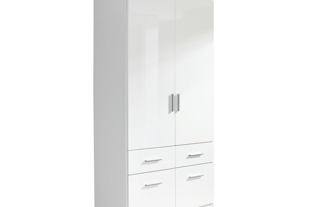 Drehtür-Kombischrank CELLE II  weiß / alpinweiß 91 x 197 x 54 cm