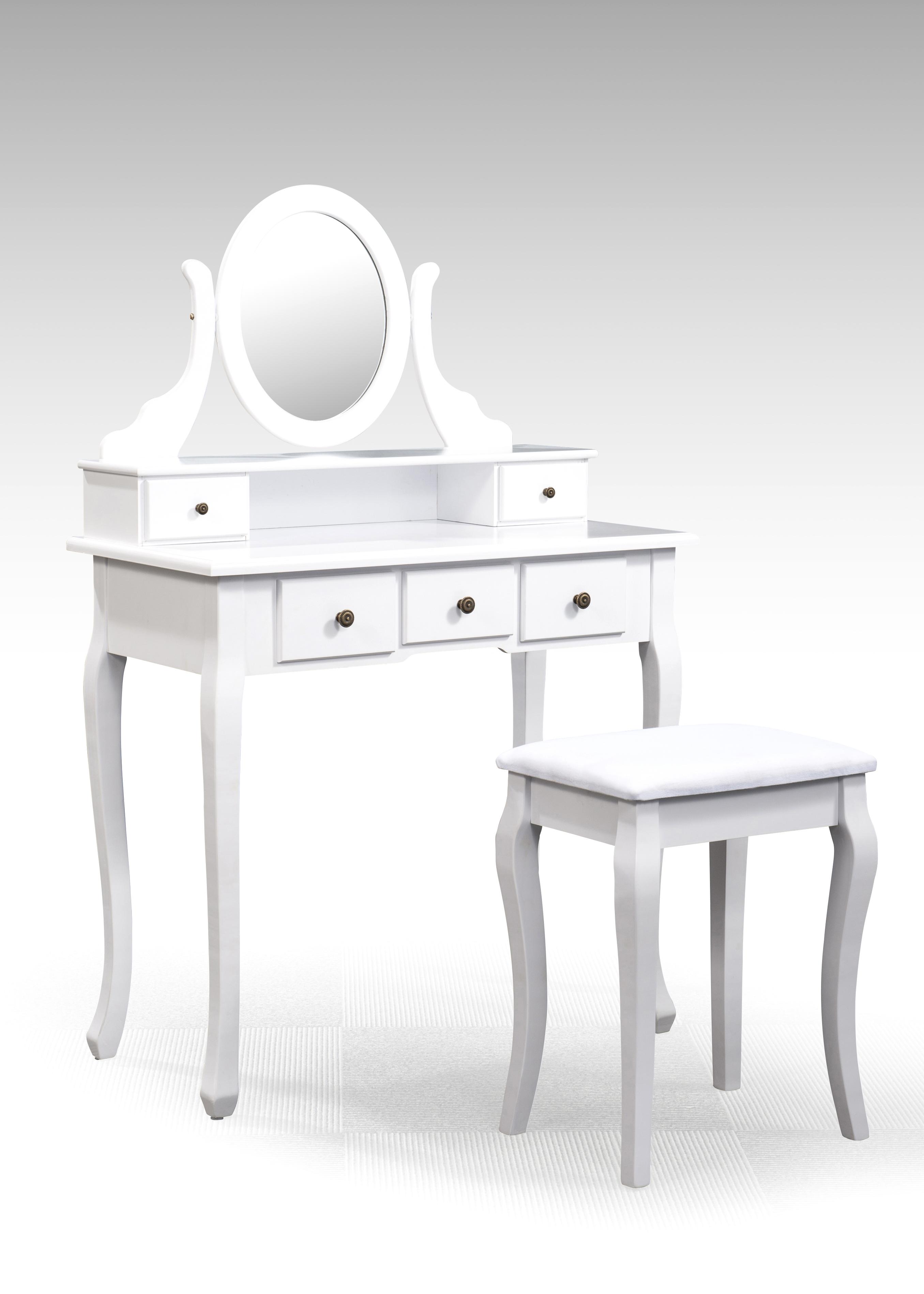 Delaria Schminktisch mit Spiegel und Schubladen