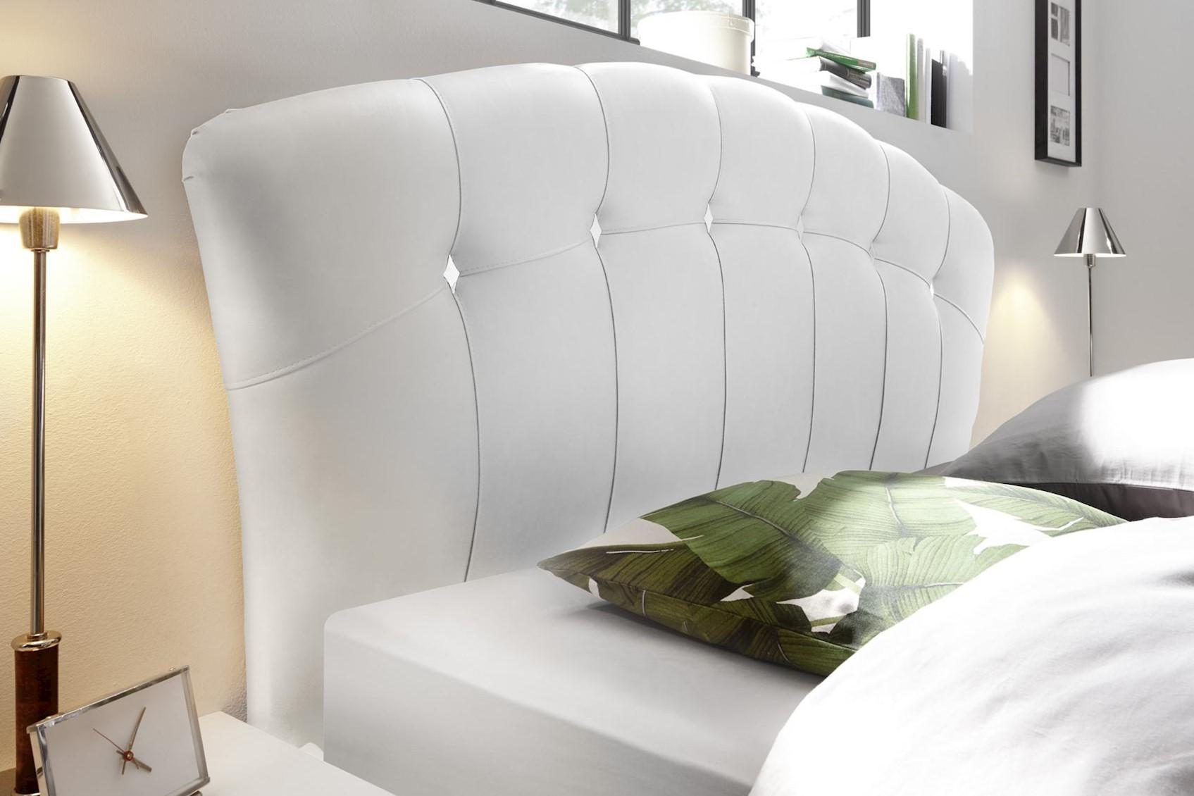 Meer Polsterbett 180x200 Pandora Weiß mit Bodenplatte