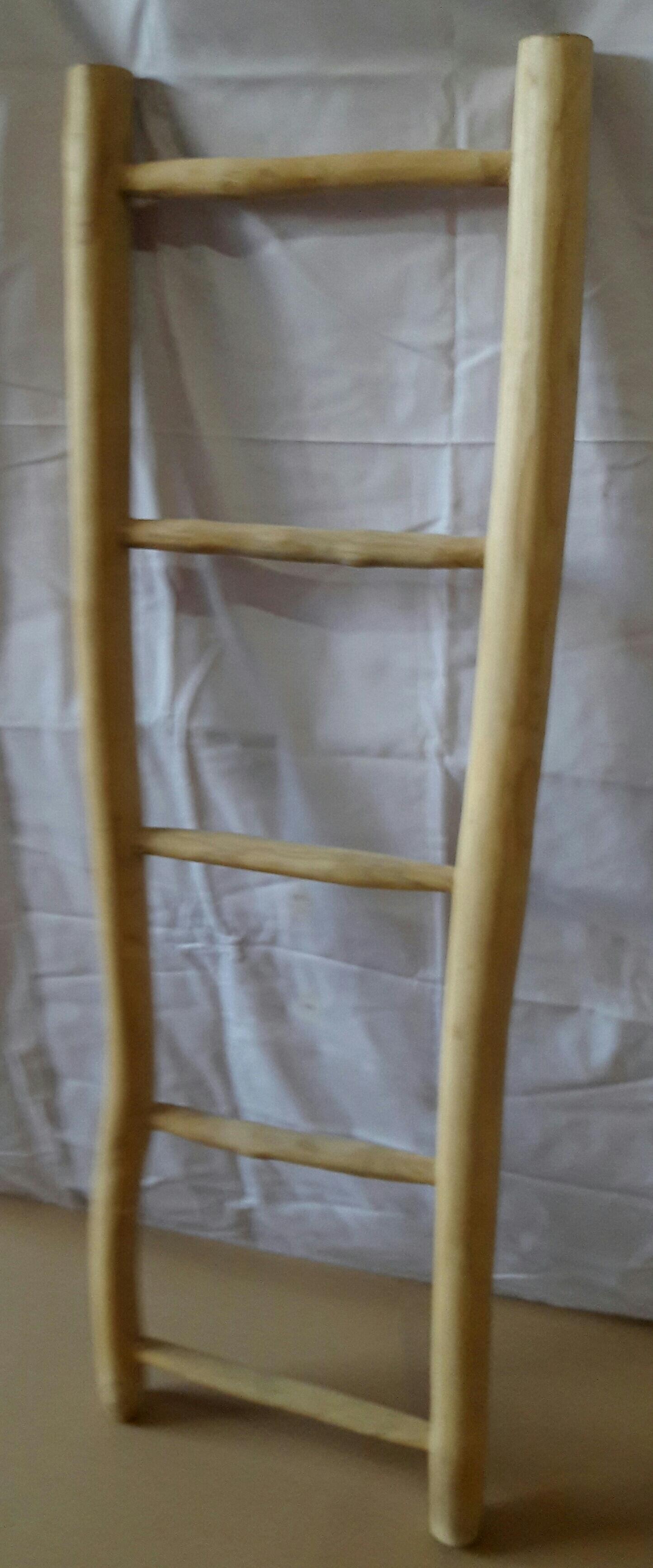 Dekor Leiter Romani mit 5 Sprossen aus Teakholz
