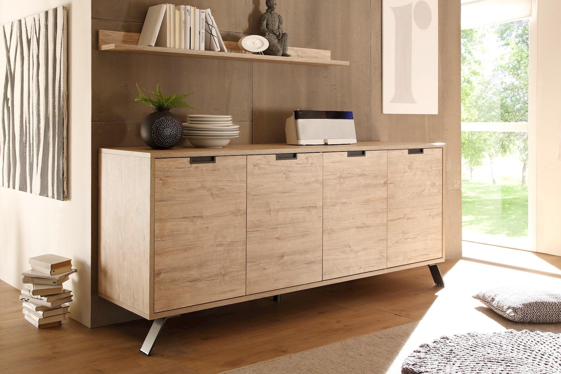 Design Sideboard in Eiche Jonson 4-türig