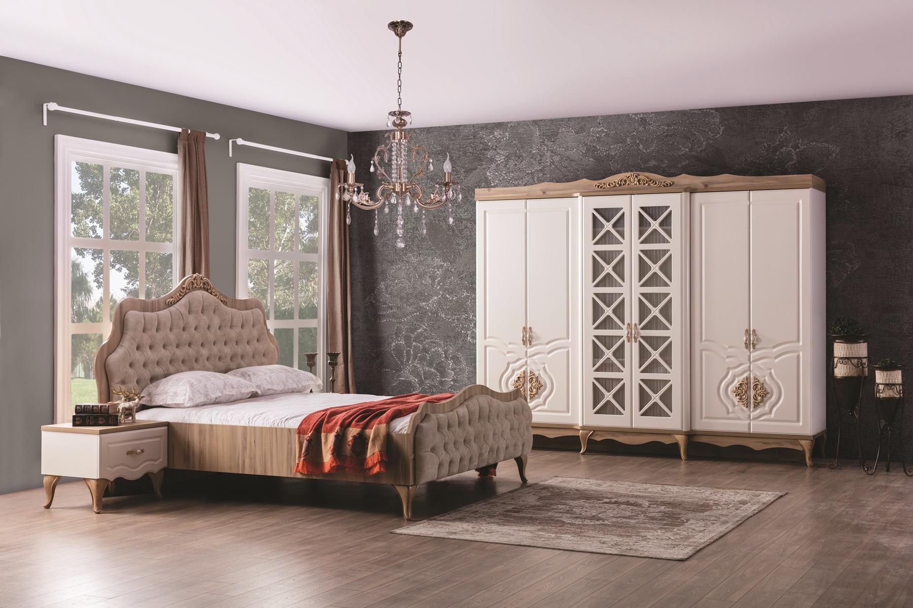 Weltew Schlafzimmer mit Stauraumbett 5-teilig Balat
