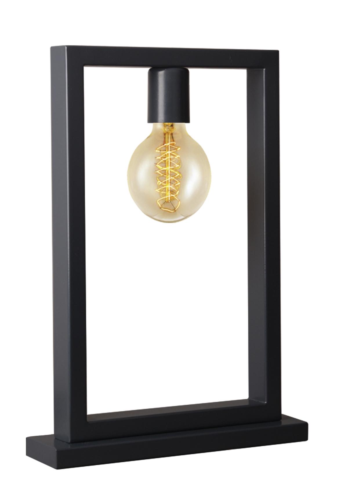 Almila Nachttischlampe Irony in der Farbe Schwarz