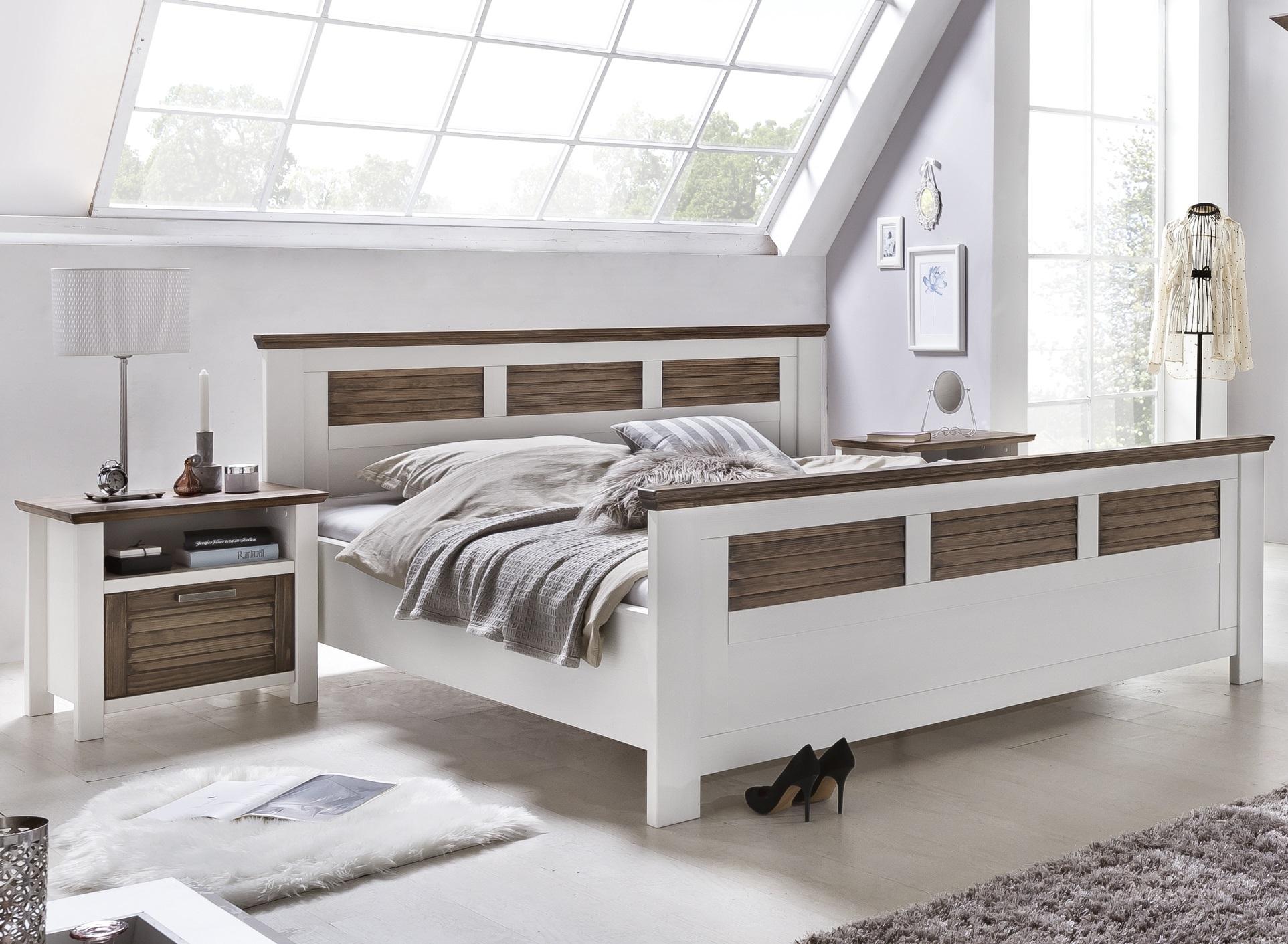 Exor Designbett in Weiß-Terra 200x200 cm