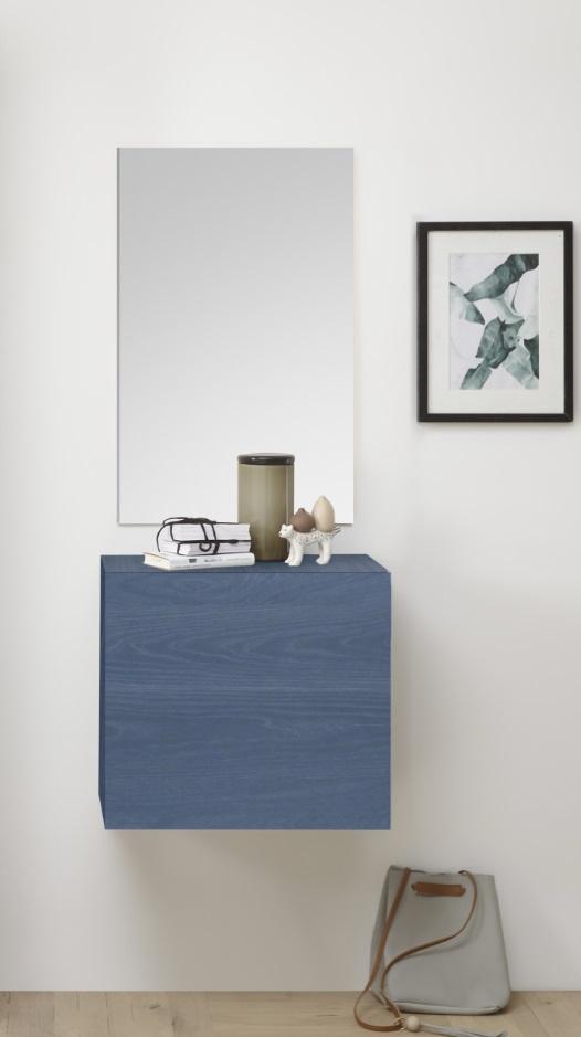 Garderobenschrank mit Spiegel Veldig Blau