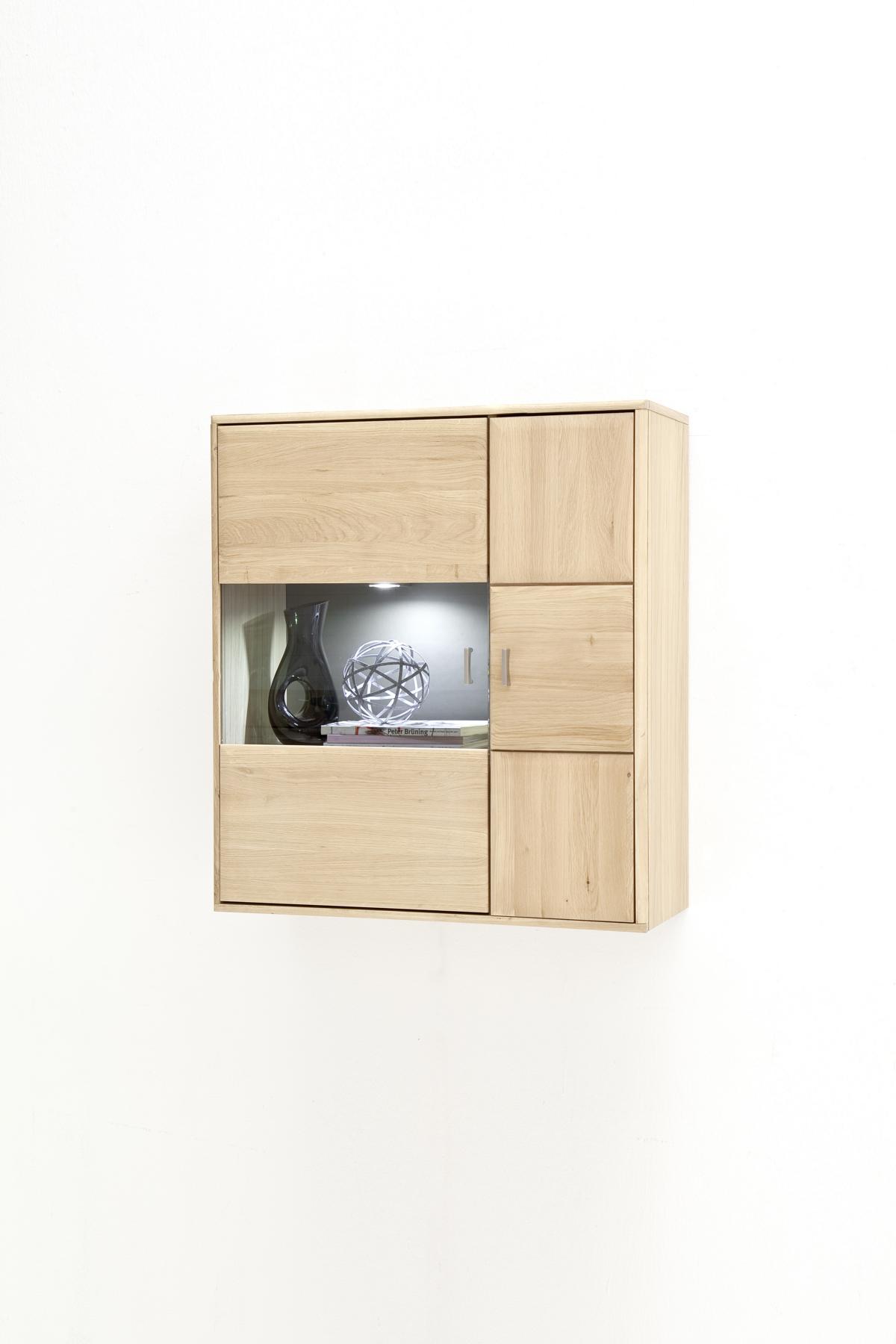 Torro Hängeschrank mit 2 Türen Eiche Bianco mit Taupe