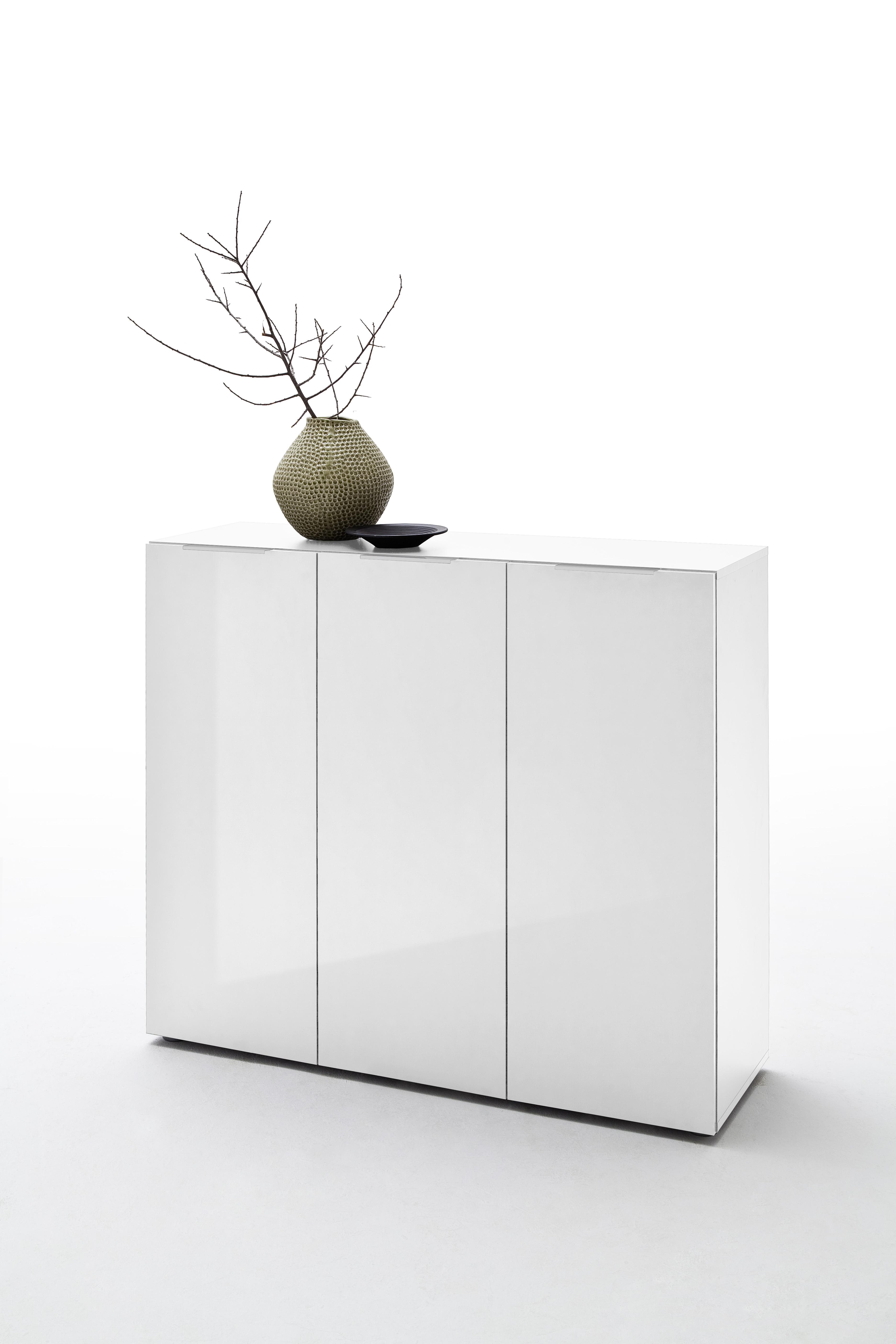 Vini Garderobenset 3-teilig Weiß Hochglanz