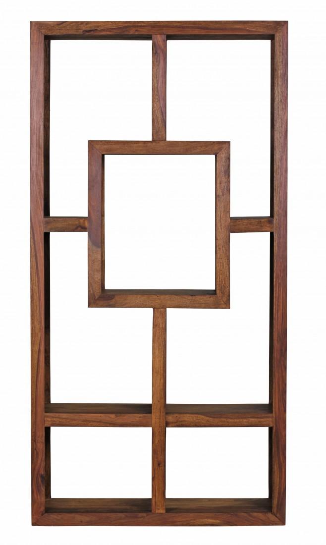 Design Massives Bücherregal Sheesham 180 x 90 x 35 cm Massivholz