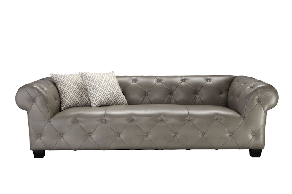Sofa SIT4Sofa grau 231 x 88 x 58 cm