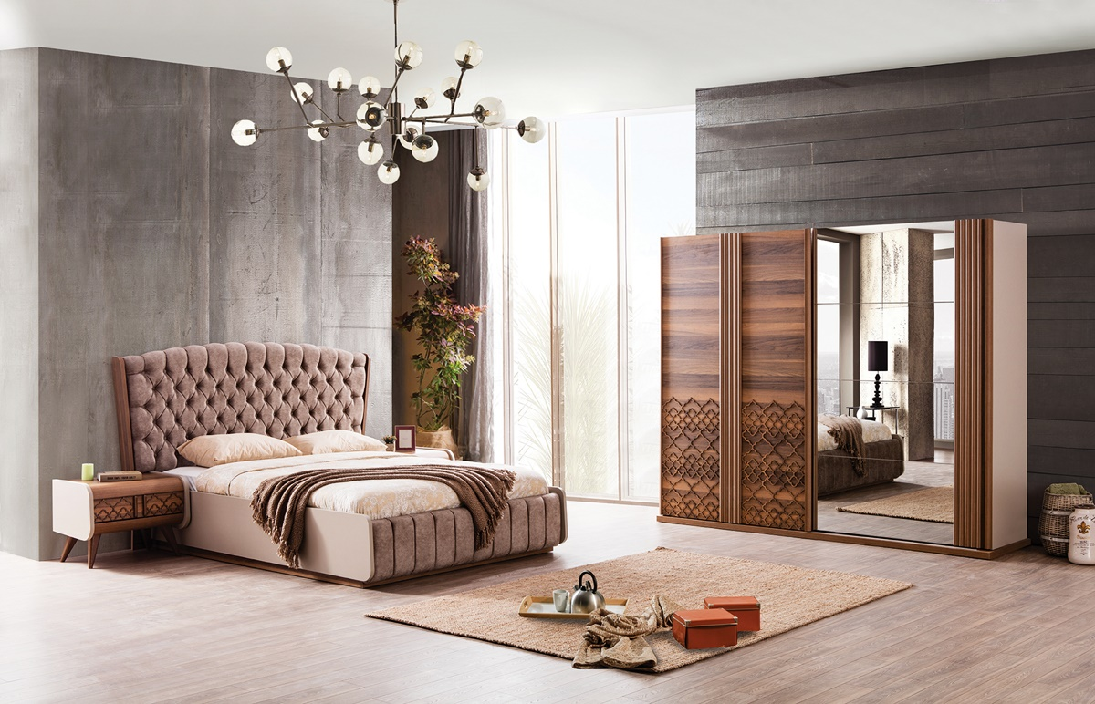 Weltew Schlafzimmer Set 5-teilig 160x200 cm Vega