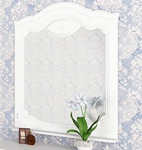 Orchidea Wandspiegel in Weiß 93x90x9
