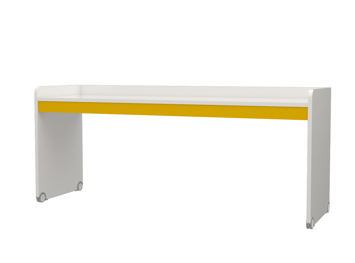 Almila Jugend Schreibtisch in Weiß Gelb Neo