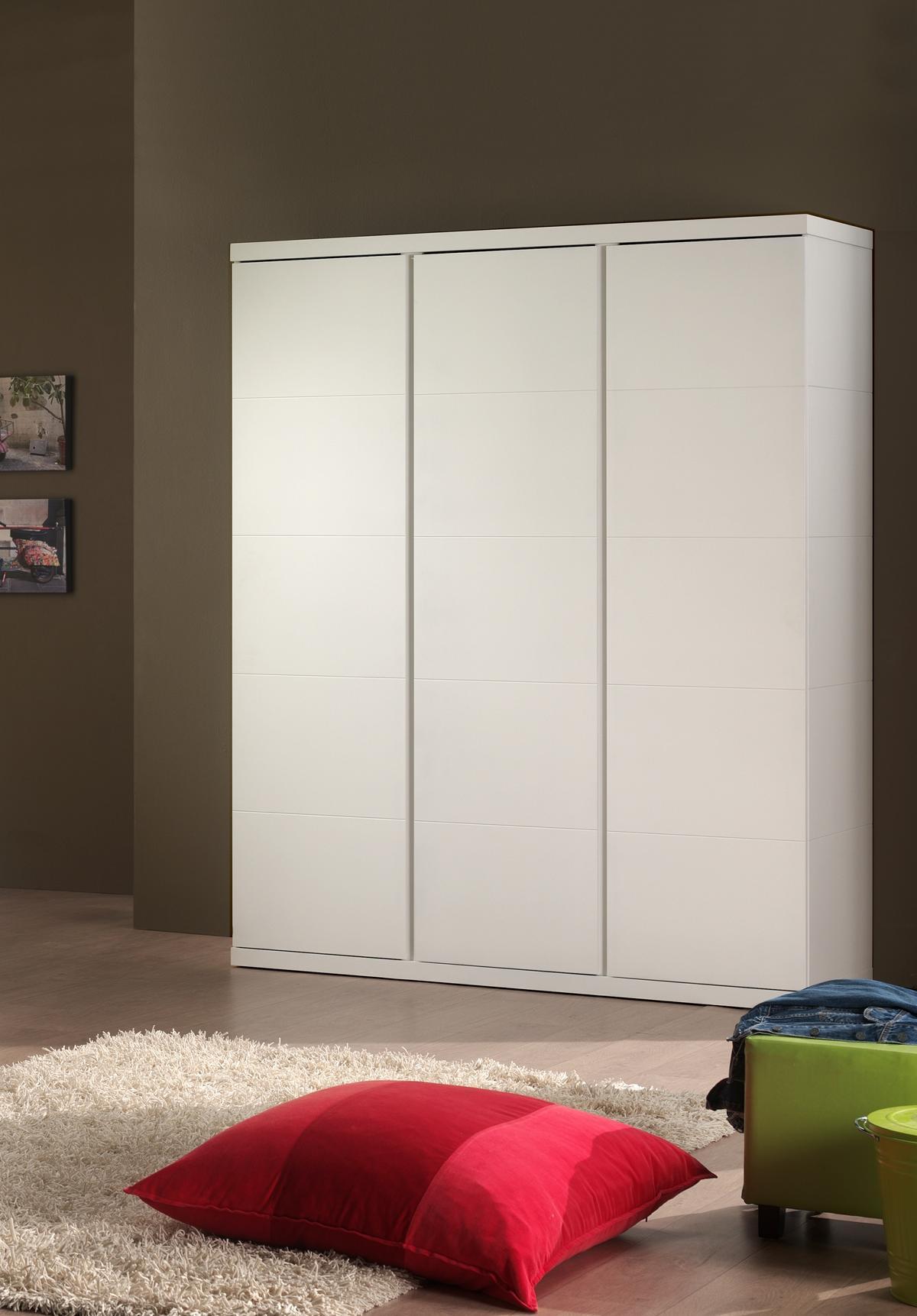 Kleiderschrank Saana 3-türig in Weiß