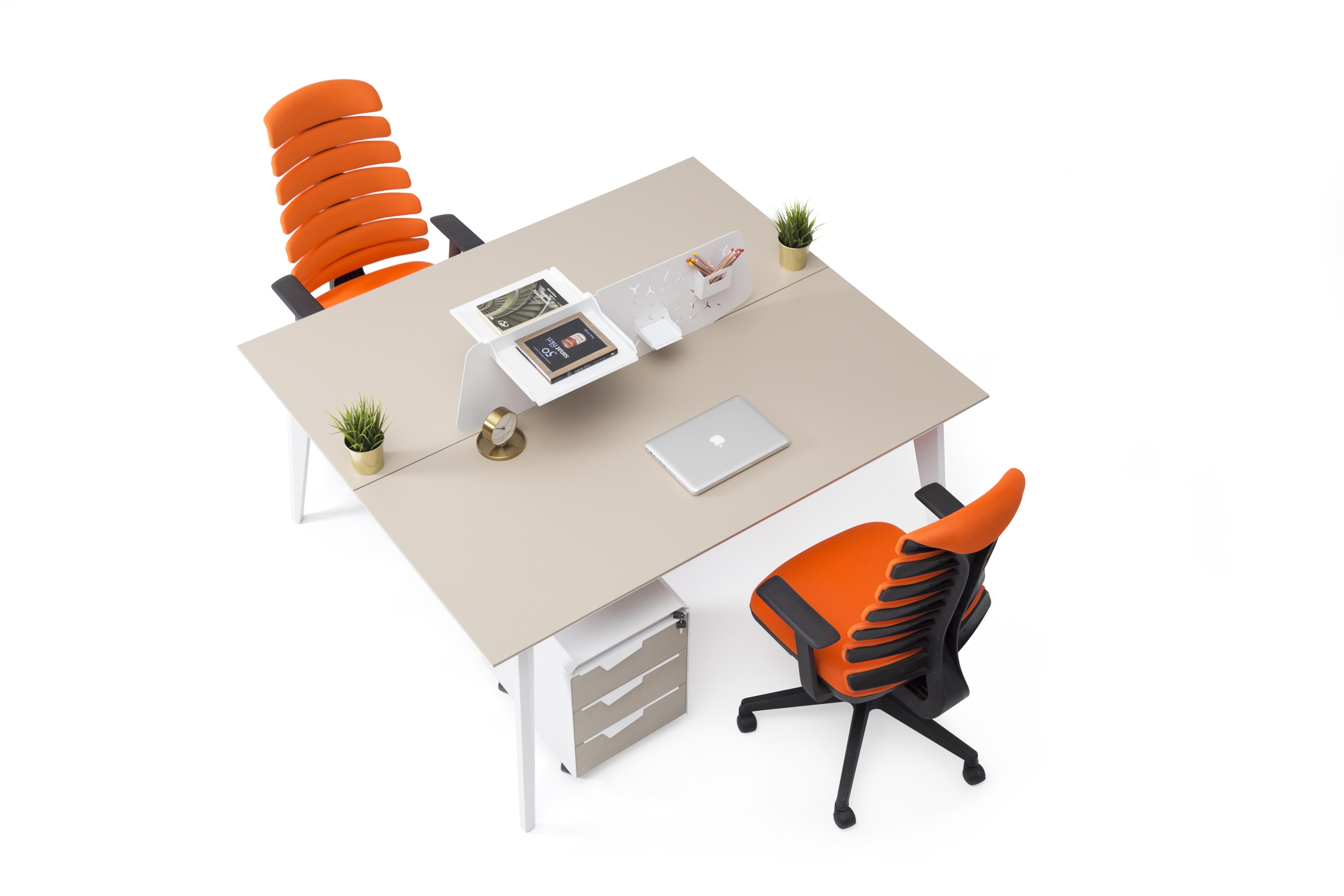 Ovali doppelter Schreibtisch Eco 2P 140x140x75 cm