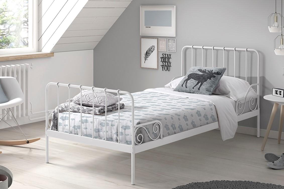 Wonderland Metallbett 90x200 Weiß