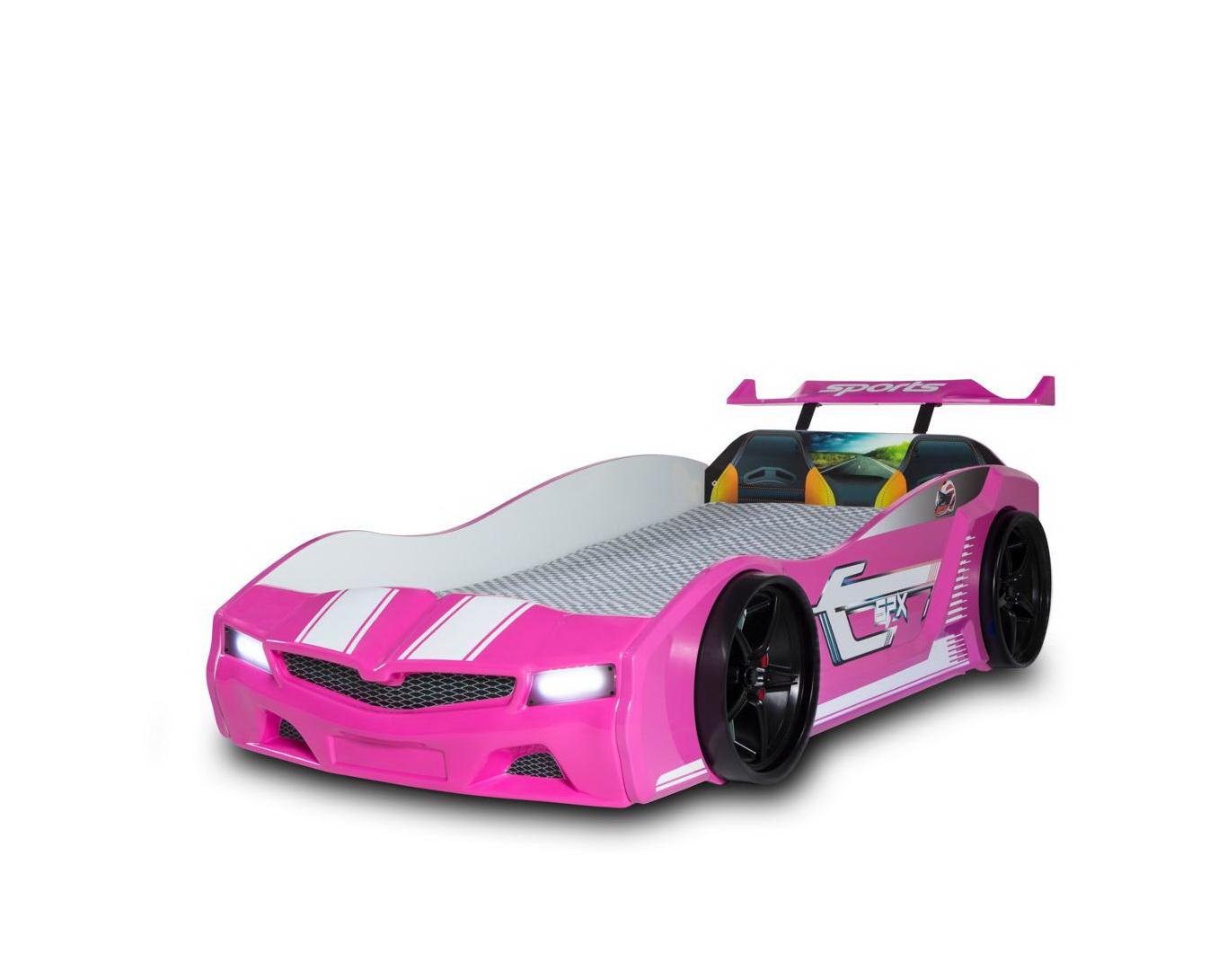 Kinder Autobett Bumer SPX Pink mit LED Scheinwerfer