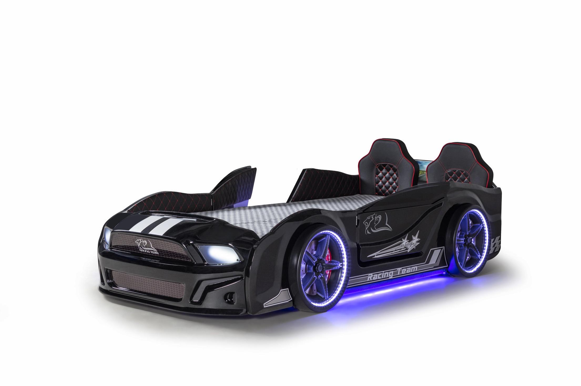 Autobett Must Rider 500 mit Türen in Schwarz
