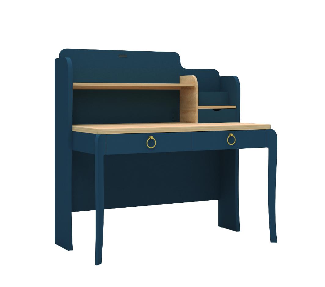 Almila Schreibtisch Elegant Blue mit USB