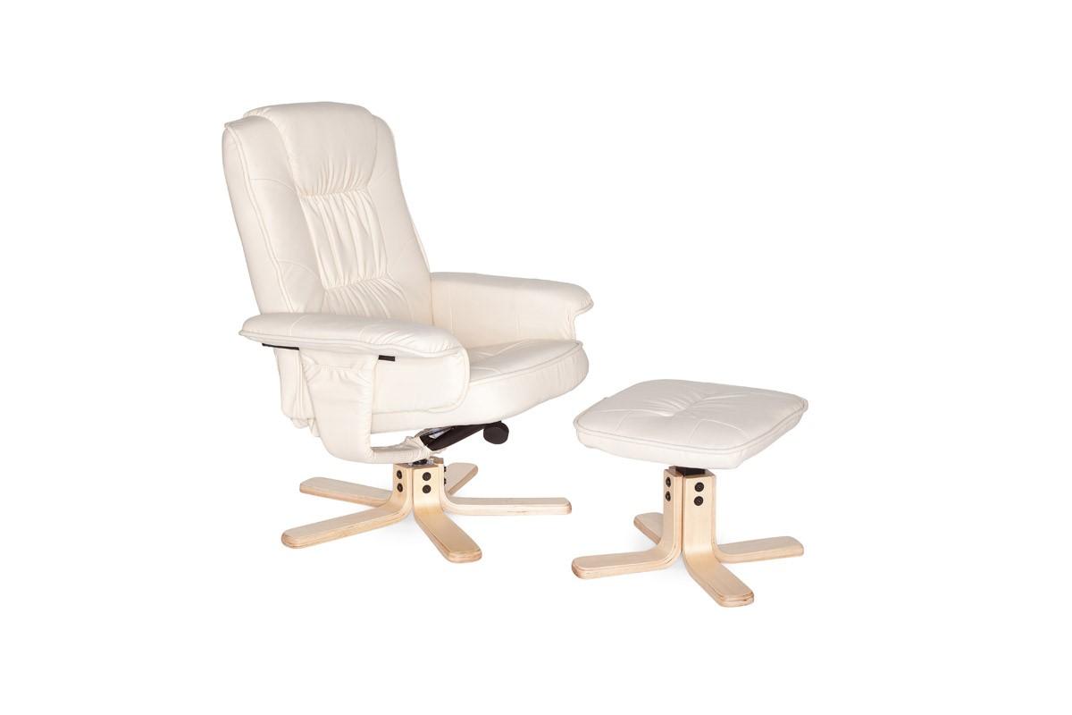 Comfort XXL Relaxsessel mit Fußauflage in Leder Optik