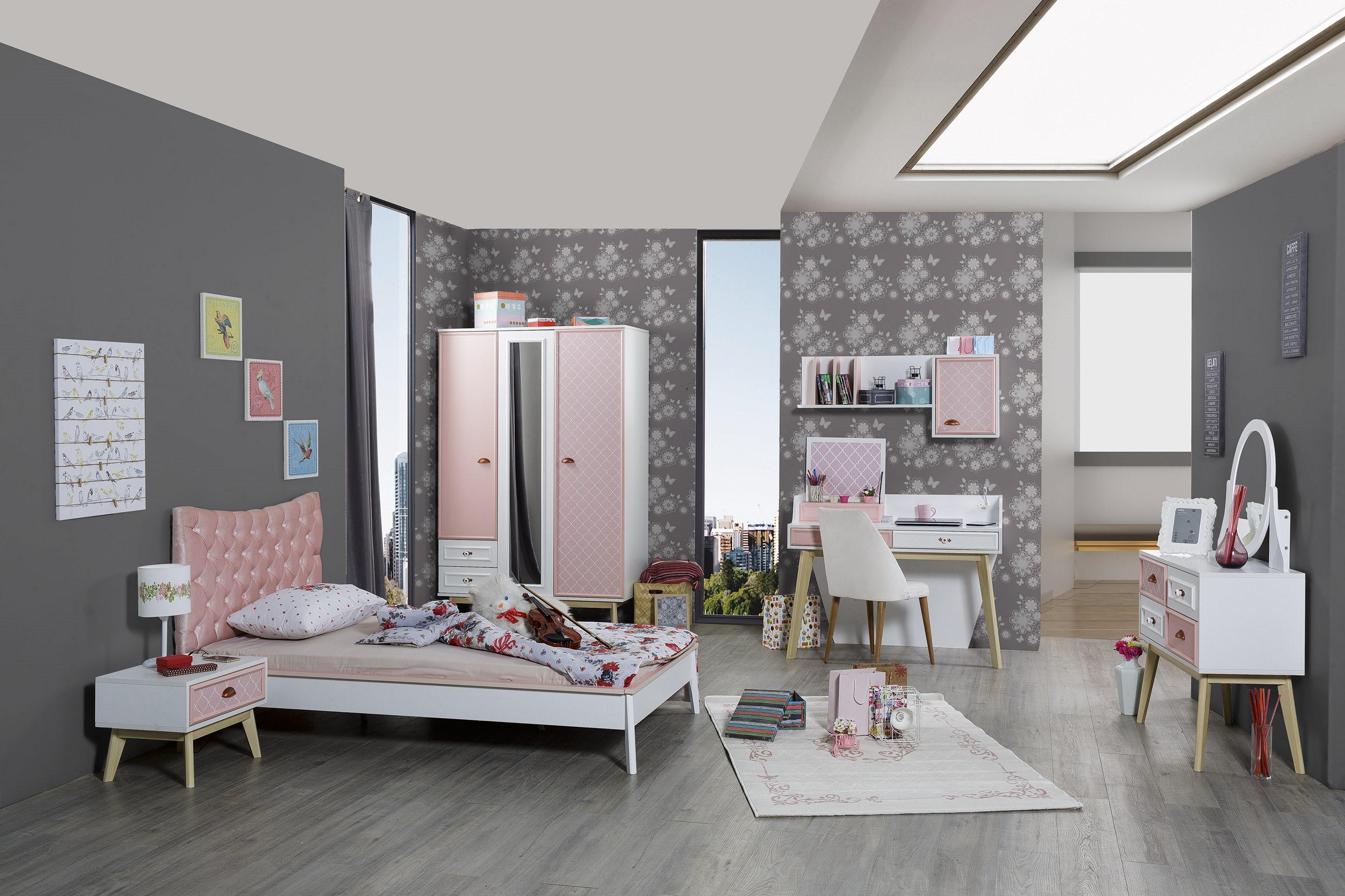 Titi Mädchenzimmer Diane in Weiß und Pink