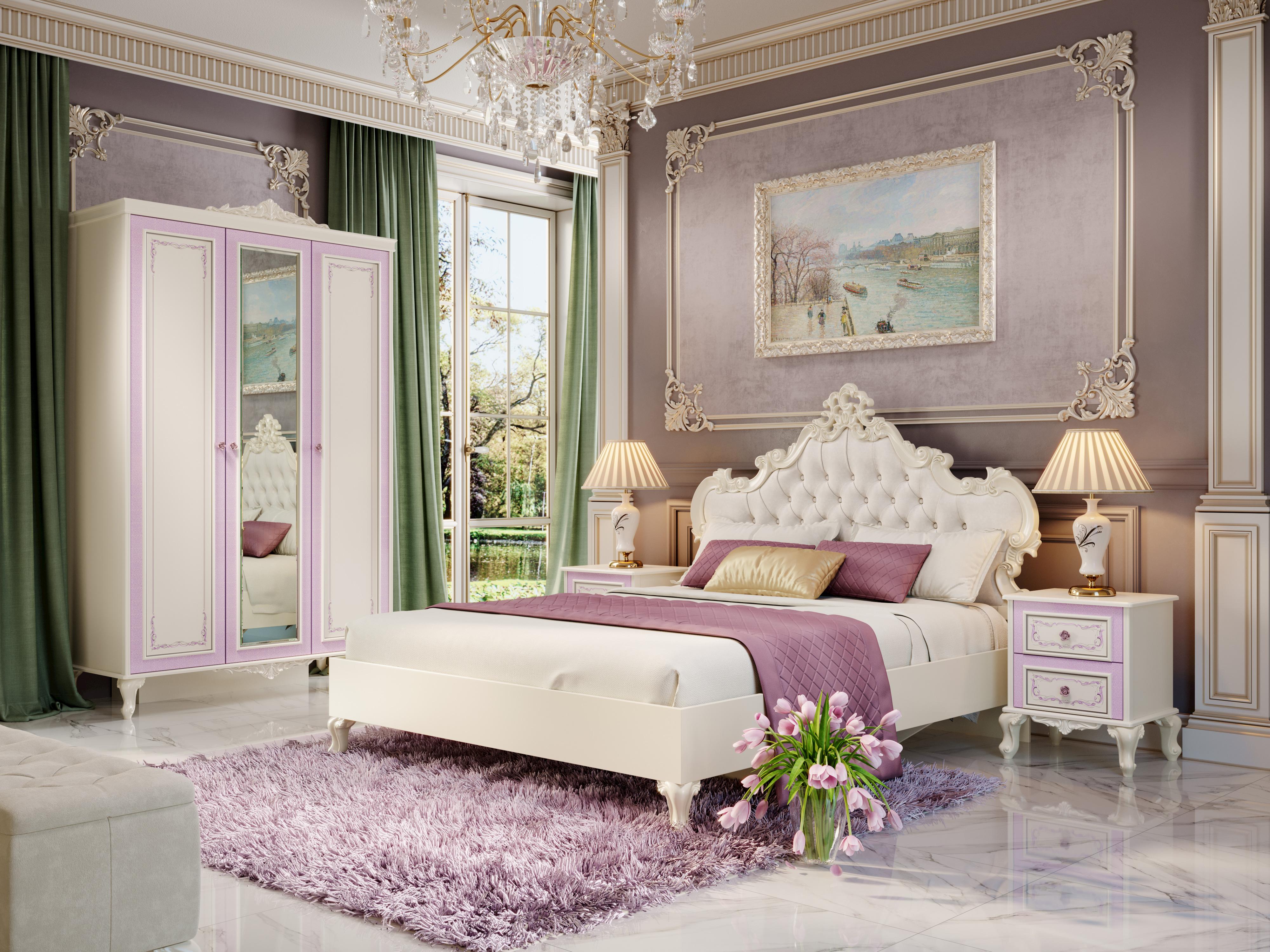 Lubidom Schlafzimmer Set Marquisa 4-teilig